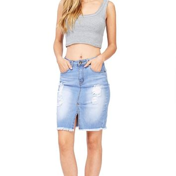 Dixie Denim Pencil Skirt