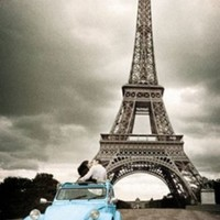 GB Eye Eiffel Tower Car Poster