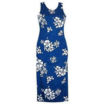 waves hawaiian long tank dress