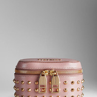 Studded Patent London Leather Cosmetics Case