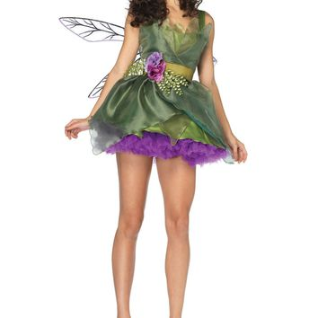 Woodland Fairy Costume (Large,Green)