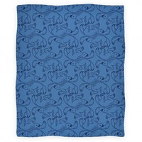 TWO TOED SLOTH BLANKET (BLUE)