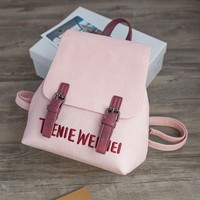 Unique Embroidery Letters Leisure Pure Backpack