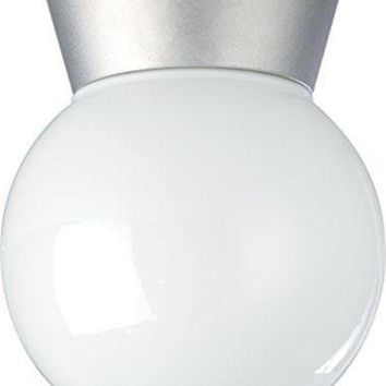 "Nuvo 77-152 - 8"" Utility Light, Outdoor Ceiling Light with White Glass Globe"