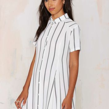 Straight and Narrow Shirt Dress