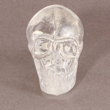 Crystal Skull Cast Glass Cabinet Knob