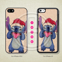 Phone Cases, iPhone 5S Case, iPhone 5 Case, iPhone 5C Case, iPhone 4 case, iPhone 4S case, Stitch, Christmas, Case For iPhone --L50768