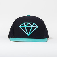 Rock Snapback Hat in Navy/Diamond Blue
