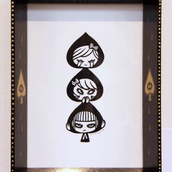 3 of Spades by Mizna Wada