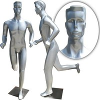 MN-253 Full Size Abstract Male Mannequin in Running Position