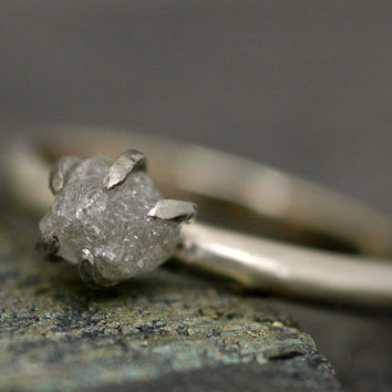 ProngSet Rough Large Diamond Stacker Ring in 18k by Specimental