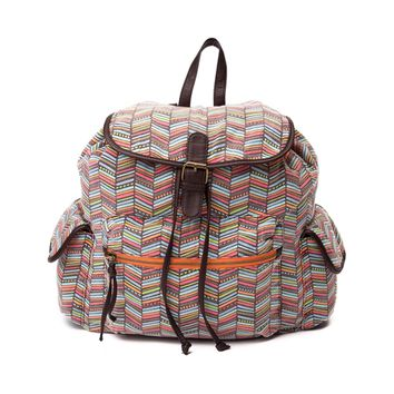 Womens Aztec Print Backpack