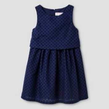 Baby Girls' A Line Dress Cat & Jack™ - Nightfall Blue