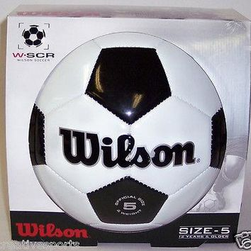 Wilson traditional black and white Soccer Ball - Official Size & Weight