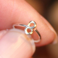 Small Nose Ring, Infinity Nose Rings, Nose Hoops, Infinity Hoop Earring, Cartilage Hoop, Endless Hoop, Seamless Hoop, Piercing Jewelry, Hoop