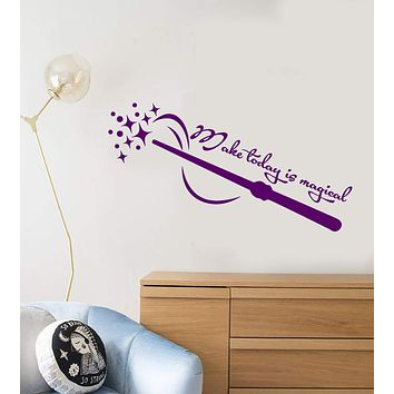 Vinyl Wall Decal Make Today Is Magical Motivation Quote Magic Wand Stickers (3013ig)