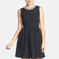 Soprano Embellished Skater Dress (Juniors) (Online Only)
