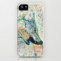 Energetic Howling Wolf iPhone & iPod Case by Elias Mario Zacarías