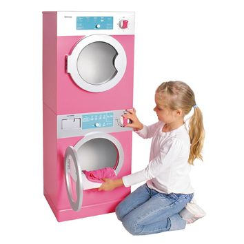 Kids, Toddlers, Interactive Pretend Play Toy Stackable Washer & Dryer Set w Realistic Timer