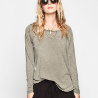 VOLCOM Lived In Burnout Womens Tee 239528531 | Girl In Motion