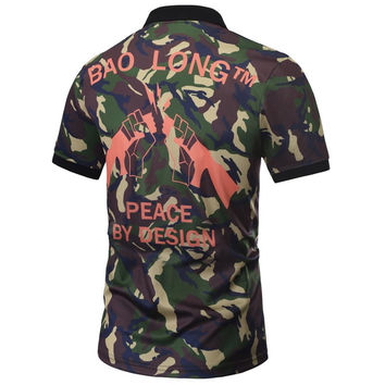 Camouflage POLO Shirts Men Summer Tops Print Gun Male Graphic 3d Polo Shirts