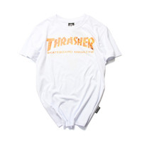 Thrasher Magazine Flame Logo White T-Shirt