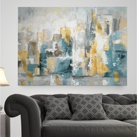 'City Views I' Painting Print on Wrapped Canvas