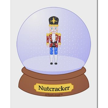 "Nutcracker Snow Globe - Red Gold Black Aluminum 8 x 12"" Sign by TooLoud"