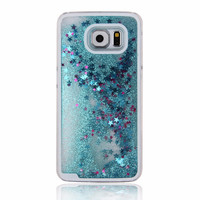 Blue Glitter Quicksand Case for Samsung Galaxy S6 S 6