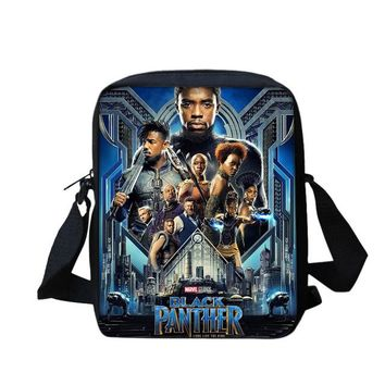 Boys bookbag trendy Fashion 3D Printing Children Crossbody Messenger Bags Black Panther Small School  Potable Casual Shoulder Bag Boy Satchel AT_51_3