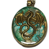 Mother of Dragons Inspired Dragon Egg Pendant Necklace