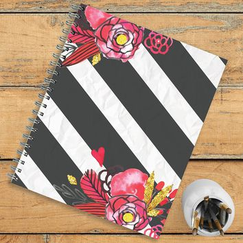 Stripes Blossoms Planner
