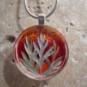 Carrot Leaf Necklace by Chaerea on Etsy  1