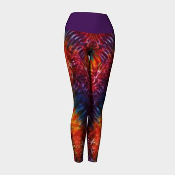 Vibrant Tie Dye Yoga Leggings Yoga Leggings