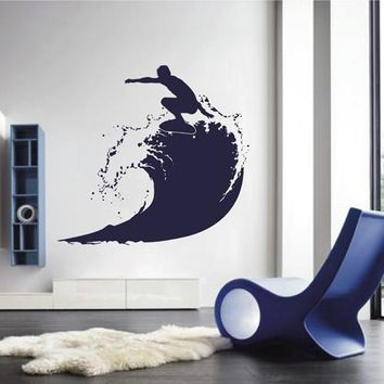 ik2599 Wall Decal Sticker wave surfing board sports shop stained living room