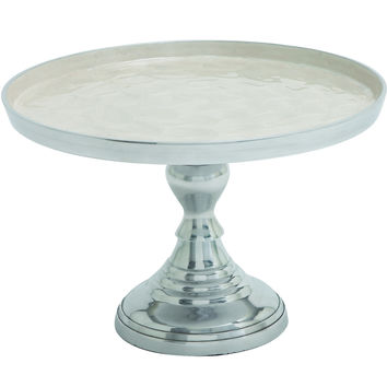 Modern Aluminum Small Size Cupcake Stand In Silver Finish