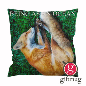Being as An Ocean Sleeping Fox Cushion Case / Pillow Case