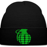 GRANEDA GREEN beanie knit hat