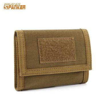 DCCK7N3 Military Tactical Outdoor Sports Nylon Trifold Wallet ID Credit Card Holder Coin Pocket Hunting Airsoft Camping Hiking Pouch