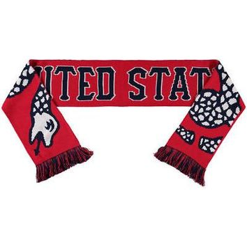 Licensed Sports US Soccer Snake Soccer Scarf - Red/Blue KO_20_2