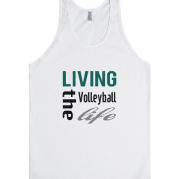 Skreened Living The Volleyball Life Tank Top-Unisex White Tank