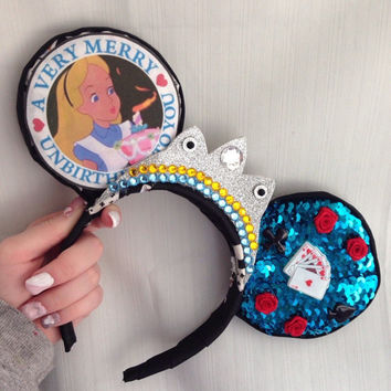 Alice in Wonderland Birthday Mickey Ears