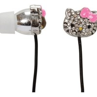 Hello Kitty Bling Earbuds - Silver (HKBL1000)