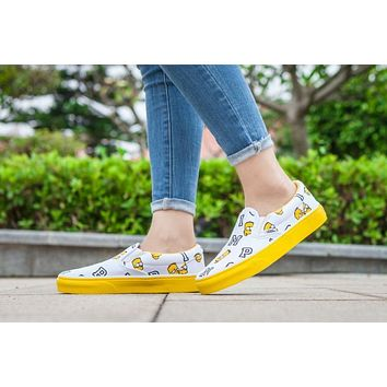Vans Simpsons Old Skool Black White Yellow Low Top Men Flats Shoes Canvas Sneakers Women Sport Shoes