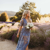 Chloe Maxi Lace Dress [Dusty Blue] 5/31