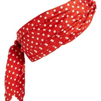 MARC BY MARC JACOBS Polka Dot Pleated Skinny Silk Scarf | Nordstrom