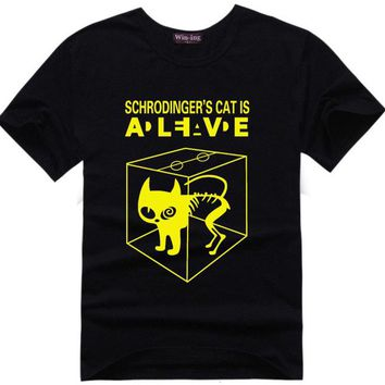 Schrodingers Cat T-shirt science geek t shirts men women comic tee tshirt The Big Bang Theory Sheldon Cooper