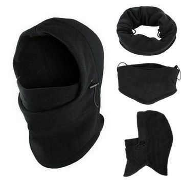 ac NOOW2 snowshine4 #4522 6 in1 Neck Balaclava Winter Face Hat Fleece Hood Ski Mask Warm Helmet