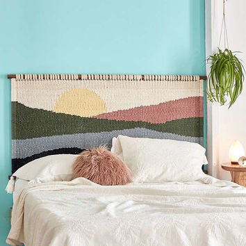 Mountain Sunrise Headboard | Urban Outfitters