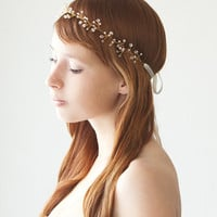Untamed  Bridal Hair piece with Swarovski Crystals by sibodesigns